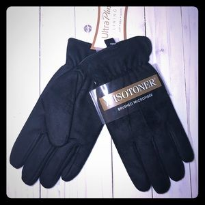 **NWT** MEN'S  BLACK ISOTONER GLOVES